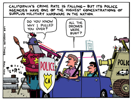 LOS ANGELES TIMES CARTOON: Why the Fuzz Pulled You Over | Criminal Justice in America | Scoop.it