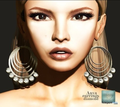Anya Diamond Earrings by WERTINA | Teleport Hub - Second Life Freebies | Second Life Freebies | Scoop.it
