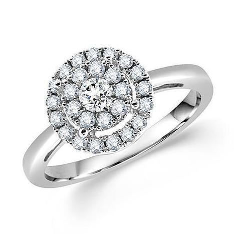 Round Diamond Bridal Engagement Ring | Diamond Engagement Ring | Scoop.it