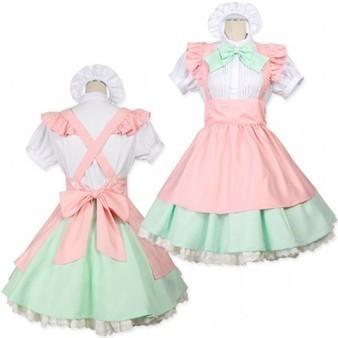 Sweet Puff Sleeves Maid Costume with Ruffle Trim Detail   Favorite Costumes   Scoop.it