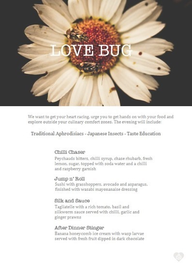 Love Bug: Taste Education and Edible Insects | Business as Unusual | Entomophagy: Edible Insects and the Future of Food | Scoop.it