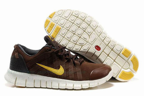 Mens Nike Free Powerlines Premium BrownGold Shoes | popular list | Scoop.it