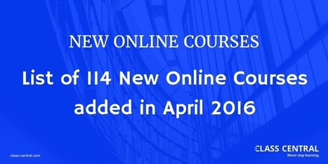 New Online Courses and MOOCs added in April 2016 | 3C project for circular economy | Scoop.it