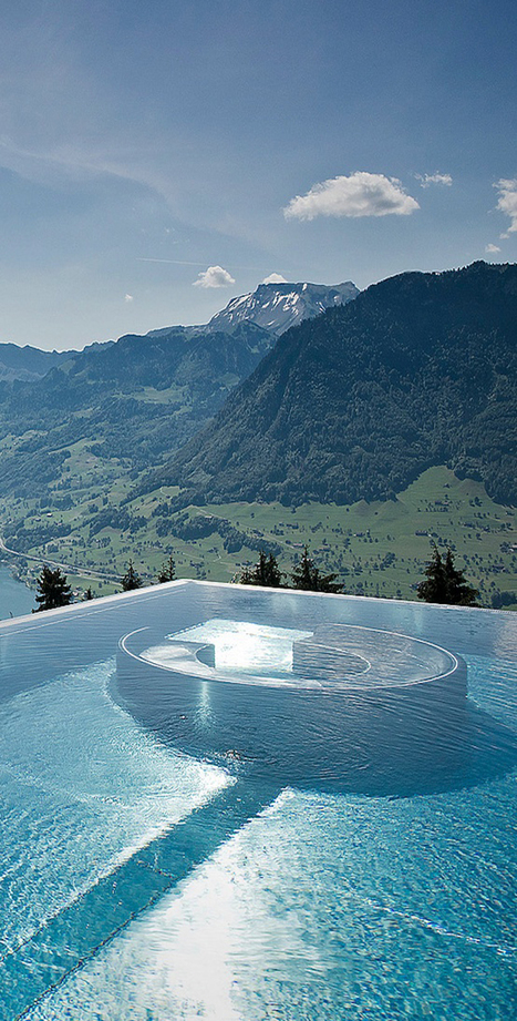 Villa Honegg - A Luxury Hotel with the Most Beautiful Pool View in the World | DesignRulz | Luxe et HiFi | Scoop.it