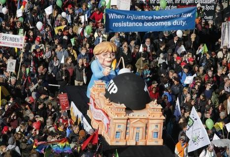 Berlin Demonstrations Draw At Least 150,000 In Opposition To Transatlantic Free Trade Deal | AUSTERITY & OPPRESSION SUPPORTERS  VS THE PROGRESSION Of The REST OF US | Scoop.it