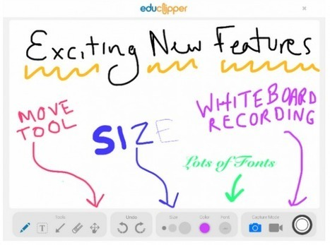 Create Whiteboard Recordings on the Updated eduClipper iPad App ~ Free Technology for Teachers | Into the Driver's Seat | Scoop.it