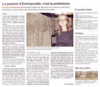 PORTRAIT: Emmanuelle VIGIER Directrice du Musée de Préhistoire de Carnac   Mégalithismes   Scoop.it