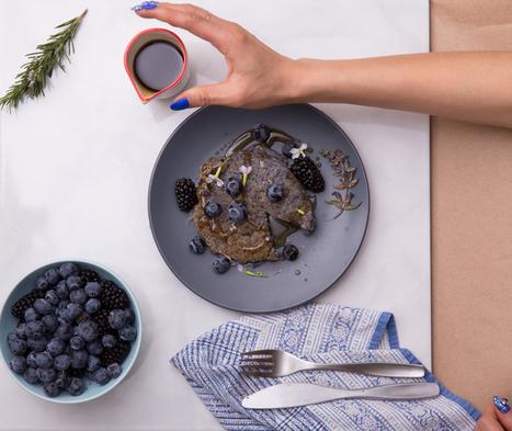 Recipe: Vegan Blue Corn and Chia Seed Pancakes | My Vegan recipes | Scoop.it
