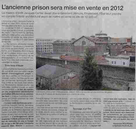 La prison Jacques Cartier | Les Amis du Patrimoine Rennais | Scoop.it