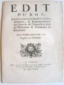 Document - Edit du Roi Louis XIV portant sur les fraudes postales | HistoGraphe | GenealoNet | Scoop.it