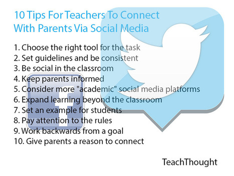 10 Tips For Teachers To Connect With Parents Via Social Media | IT matters | Scoop.it