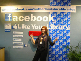 """Sutherland Shire Libraries News: Facebook Display at Sutherland Library 