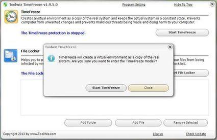 Essayer un logiciel sans l'installer avec TimeFreeze | NootLe | IT | Scoop.it
