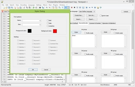 Tip: Using Notepad++ to Read Log Files | Architects Zone | Juanmi.Rua | Scoop.it