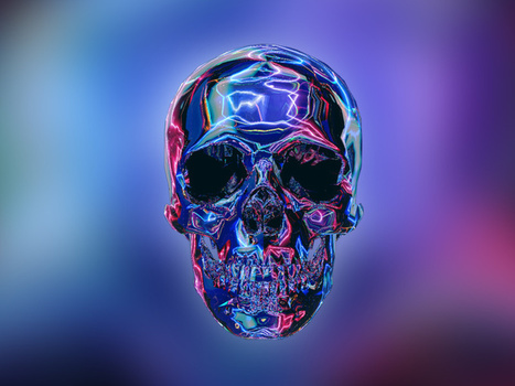 Skull Neon Dream Tribute | Design Inspiration | Scoop.it