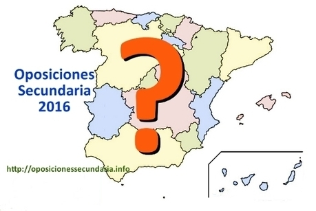 Oposiciones Secundaria 2016 | Oposiciones Educación | Scoop.it