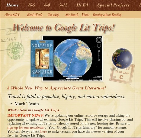 http://www.GoogleLitTrips.com | Literacy  and Learning in the 21st Century Classroom | Scoop.it