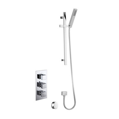 Taps Today Square Triple Thermostatic Shower with Slide Rail Kit and Overflow Filler   TTW113   Porter Doors   Scoop.it