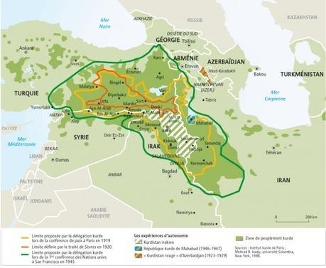 Limites historiques du Kurdistan, par Philippe Rekacewicz (Le Monde diplomatique) | Enseñar Geografía e Historia en Secundaria | Scoop.it