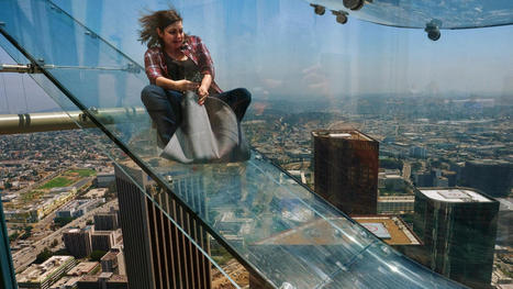 What's it like to ride a glass slide 1,000 feet above L.A.? We tried it out | Innovative & Sustainable Building | Scoop.it