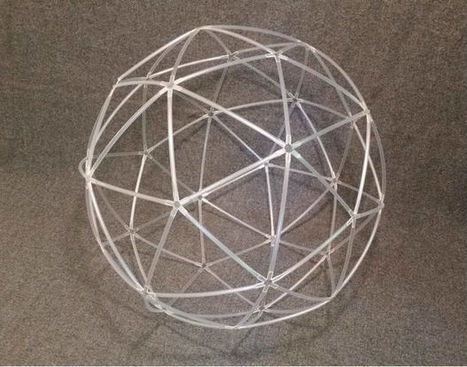 Make a geodesic sphere out of plastic straws | Geometry Math | Scoop.it