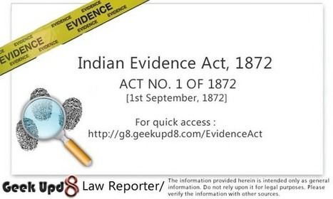 Indian Evidence Act, 1872 [Full Bare Act PDF Download]   evidence act   Scoop.it