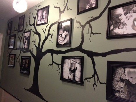 Family tree memory wall mural ideas diy craft for Diy family tree wall mural