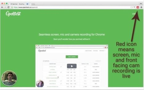 OpenTest. Créer des tutoriels vidéo le plus simplement du monde – Les Outils Tice | Les outils du Web 2.0 | Scoop.it