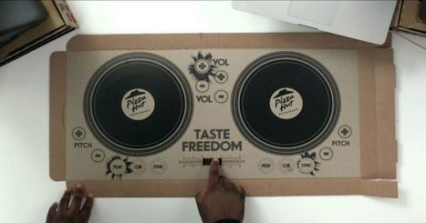Pizza Hut's playable DJ pizza box is perfect for DJ Khaled wannabes | audio branding | Scoop.it