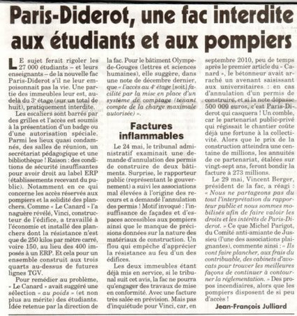 Paris-Diderot, une fac interdite aux étudiants et aux pompiers | Research and Higher Education in Europe and the world | Scoop.it
