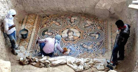 Archaeologists unearth ancient greek mosaics in pristine condition, there's nothing like it | Off the beaten tracks | Scoop.it
