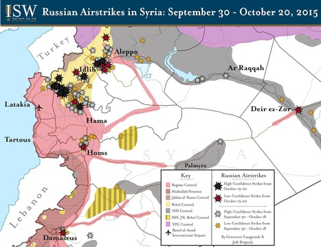 ISW Blog: Russian Airstrikes in Syria: September 30 - October 20, 2015 | Information wars | Scoop.it