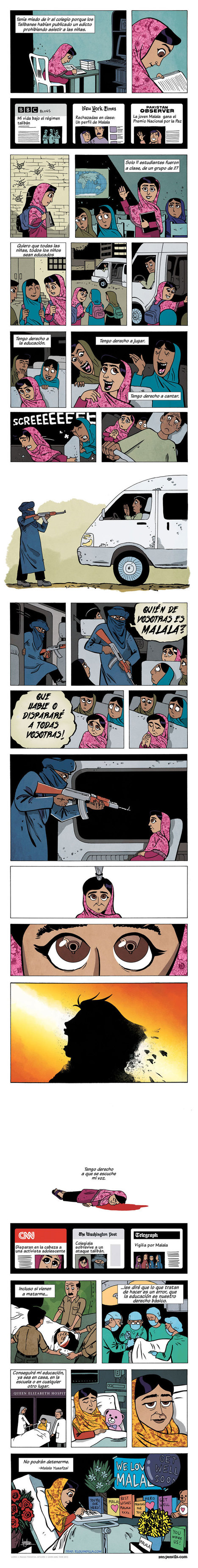 Cómic sobre Malala Yousafzai en castellano. | Bibliotecas Escolares do S. XXI | Scoop.it