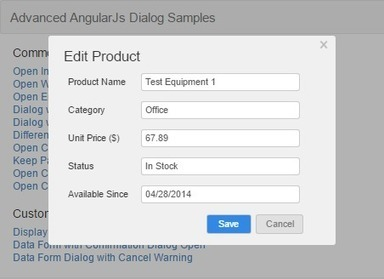 An Advanced and Easy-use AngularJS Modal Dialog - CodeProject | javascript node.js | Scoop.it