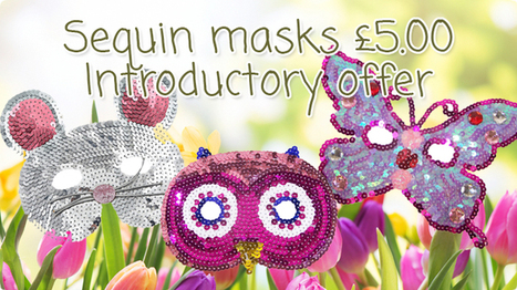 Sequin Masks introductory Offer   The Sparkle Club   Scoop.it