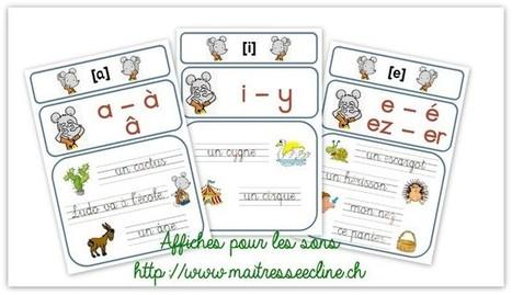 Affiches pour les sons en français! | Nouvelles EDU - FLE | Scoop.it