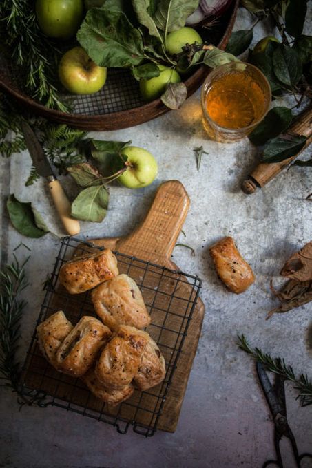 apple rosemary and cider glazed onion sausage rolls - twigg studios ...