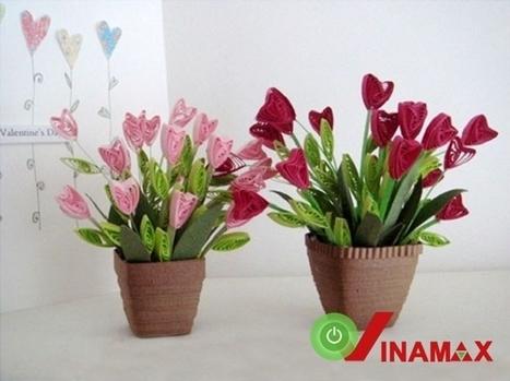 Lọ hoa giấy cuốn hình trái tim lãng mạn giành cho những người thương yêu | Đồ Handmade - Qùa tặng sáng tạo | Scoop.it