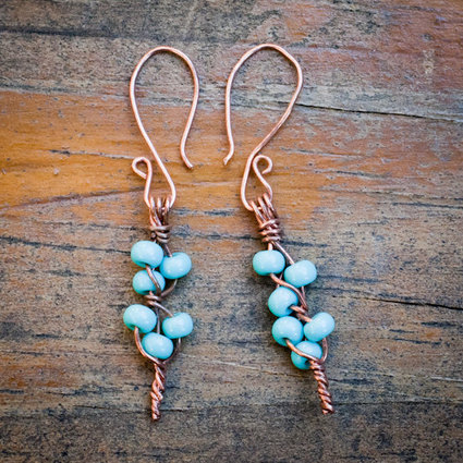 Turquoise Blooming Branch Earrings | So many faces for the fashion industry | Scoop.it