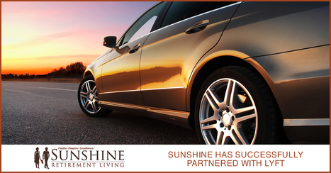 Sunshine Has Successfully Partnered With Lyft - Sunshine Retirement Living | Retirement Lifestyles | Scoop.it