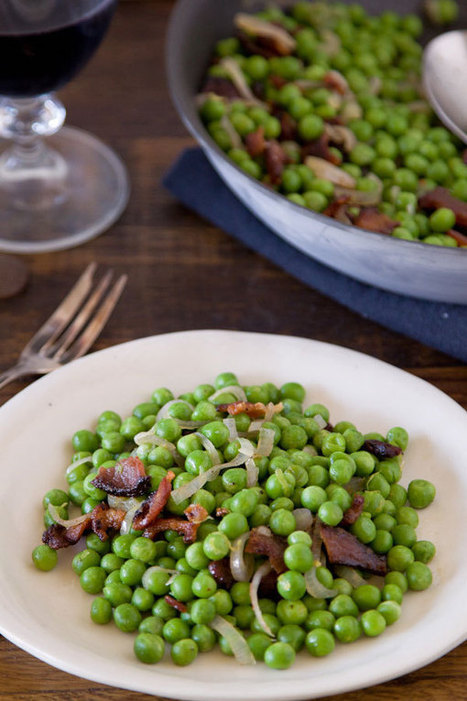 Sauteed Peas and Bacon Recipe | À Catanada na Cozinha Magazine | Scoop.it