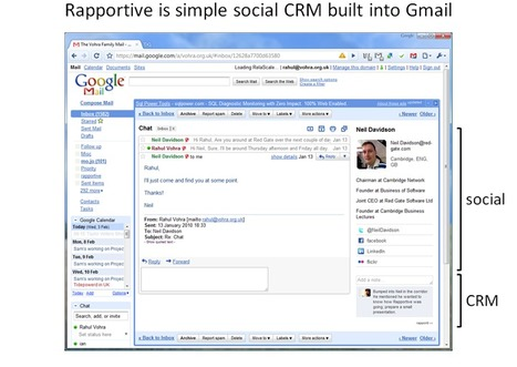Rapportive – The World's Gone Social, Isn't It Time Your Email Did? | Digital Strategies for Social Humans | Scoop.it