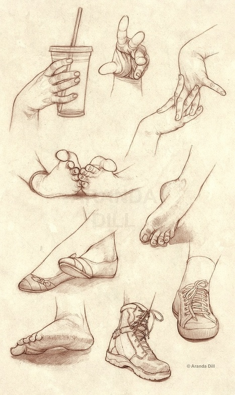 Hands Feet and Shoes Drawing Reference | interest thing | Scoop.it