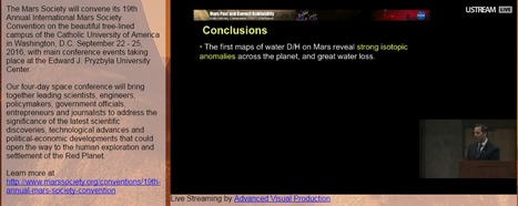 The Mars Society is Live Streaming its annual convention | More Commercial Space News | Scoop.it