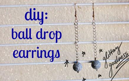 DIY Tutorial: Ball Drop Earrings | Fashion DIY | Scoop.it