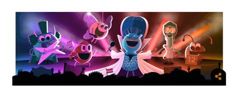 Le Doodle du jour : 60e anniversaire du concours Eurovision de la chanson (Google) | Méli-mélo de Melodie68 | Scoop.it