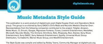 Music Industry Style Guide Aims to Get Everyone on the Same Page with Metadata | Meta4music | Scoop.it