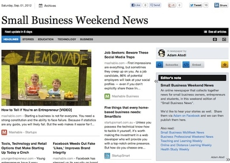 Sept 1 - Small Business Weekend News is out | Business Futures | Scoop.it