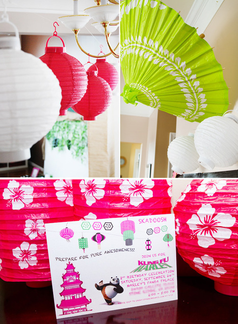 Pink & Green Kung Fu Panda Birthday Party // Hostess with the Mostess® | Creative and Inexpensive Party Planning Ideas | Scoop.it