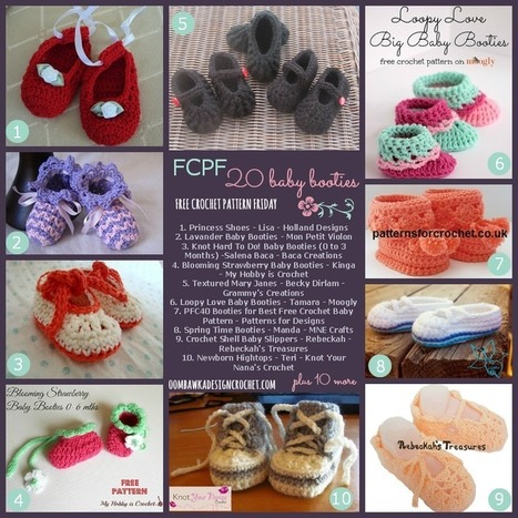 20 Free Crochet Patterns for Baby Booties (FCPF) Oombawka Design Crochet | Crochet | Scoop.it